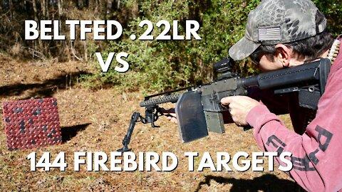 144 Exploding Firebird Targets vs Beltfed Full Auto 22LR