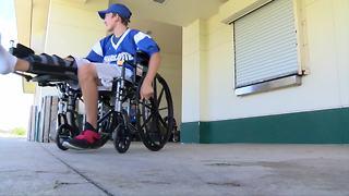 Football team raises money for injured player
