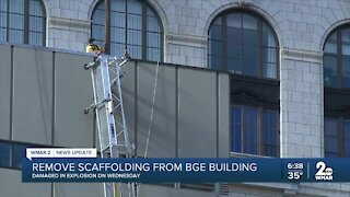 Remove scaffolding from BGE building