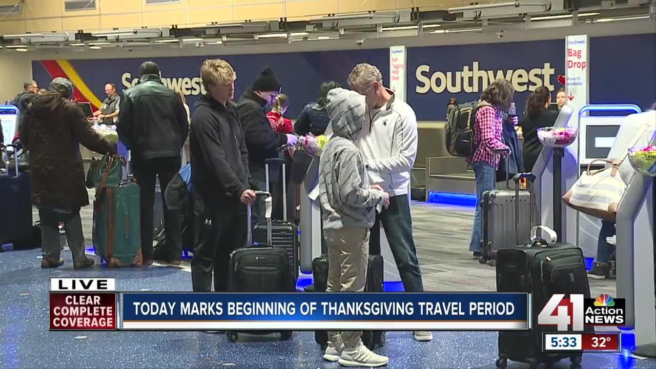 Friday marks beginning of Thanksgiving travel period