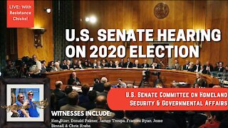 U.S. Senate Hearing On 2020 Election: Homeland Security & Governmental Affairs Committee