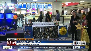 Noon Year's Eve at Las Vegas airport