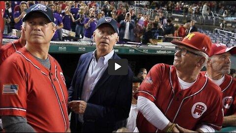 EPIC Joe Biden Boo-A-Thon At Nationals Stadium During Congressional Baseball Game!!!