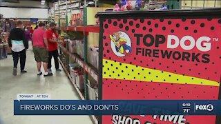 Fireworks guidelines