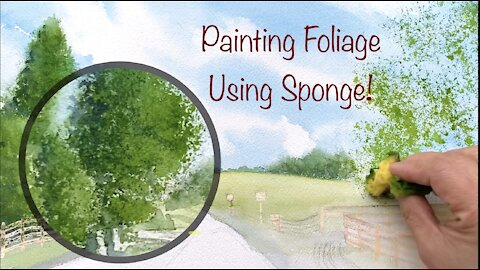 Landscape Painting - Watercolor for beginners - Country Road