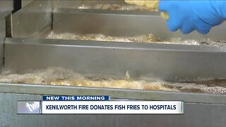 Kenilworth Fire Department donates fish fries to hospitals