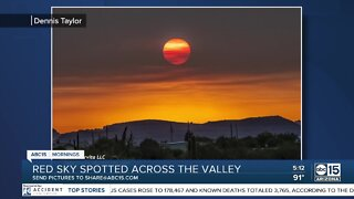 Red skies across the Valley