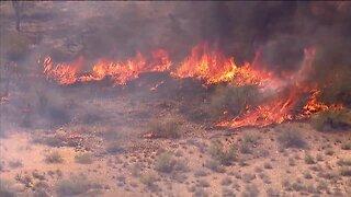 Brush fire burning near Lake Pleasant