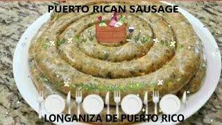 Longanizas chorizos: Puerto Rican pork sausages recipe