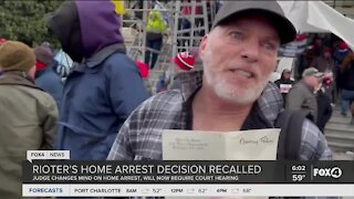 Rioter's home arrest decision recalled