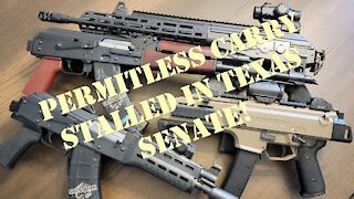 PSA: Texas Constitutional Carry STALLED!