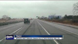 Wrong-way driver crash kills 2 on I-75