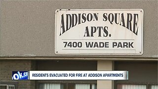 Cleveland firefighters battle apartment fire on East Side