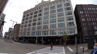 What's happening inside the May Co. Building?