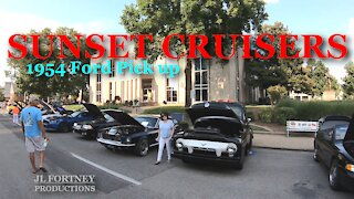 Sunset Cruisers 1954 Ford Pick up Classic Car Show