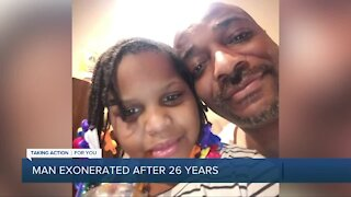 Man exonerated after 26 years