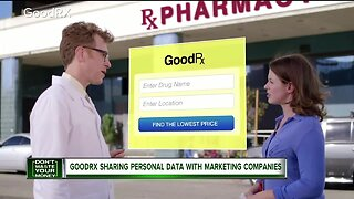 GoodRx sharing personal data with marketing companies