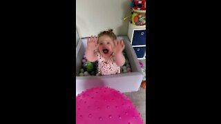 Baby laughing hard!!