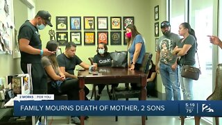 Family mourns death of mother, 2 sons