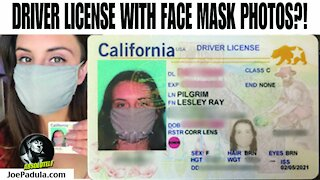 Woman Gets Drivers License with Face Mask Photo