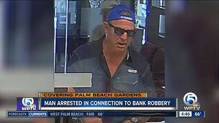 Palm Beach Gardens bank robbery suspect arrested in Broward County