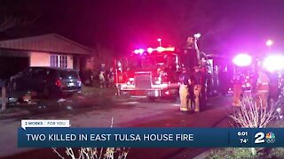Two killed in east Tulsa house fire
