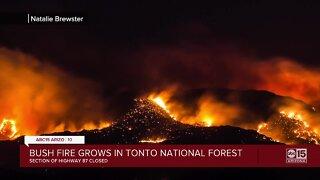 Crews battling 14,371 acre 'Bush Fire' along State Route 87 near Bush Highway