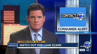 Watch out for loan scams
