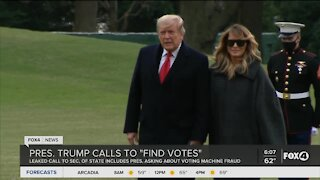 President Trump calls to find votes