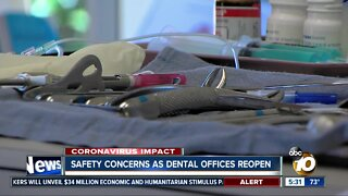 Safety concerns as dental offices reopen