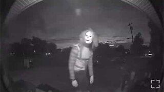 Security camera captures scary clown's weird behavior