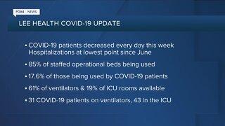 Saturday morning Lee Health COVID-19 update