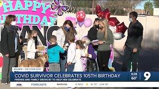 105-year-old COVID survivor celebrates birthday in Tucson