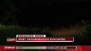Bixby neighborhoods evacuated