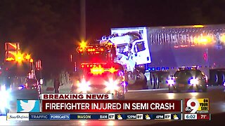 Liberty Township firefighter, semi driver injured in crash on northbound Interstate 75