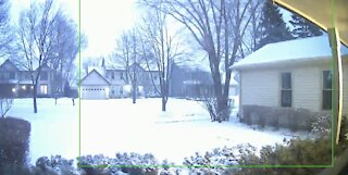 Thundersnow! Lightning and thunder in a snow storm!