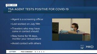 TSA agent test positive for COVID-19