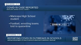 Maricopa High School student tests positive for COVID-19
