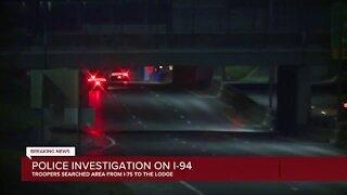 Police investigation on WB I-94