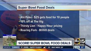 Super Bowl food deals across the Valley