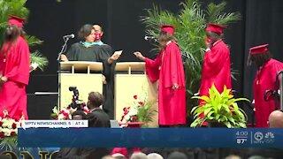Palm Beach County seniors celebrating in-person graduations