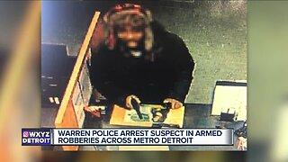 Serial armed robber arrested in Westland