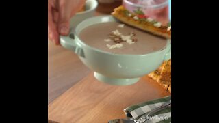 Mushroom and Pecan Soup