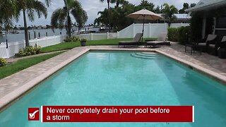 Preparing your pool before a storm | Tracking the Tropics Quick Tip