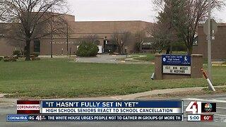 High school seniors react to school cancellation