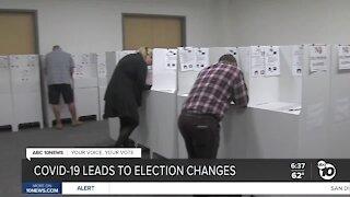 Coronavirus leads to election changes