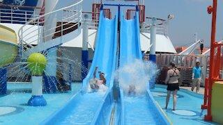 Carnival Inspiration water slides