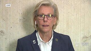 Tampa Mayor Jane Castor speaks on Tampa Police Chief Brian Dugan's retirement