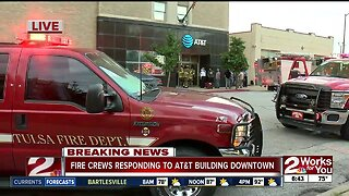 Fire reported at AT&T building in downtown Tulsa