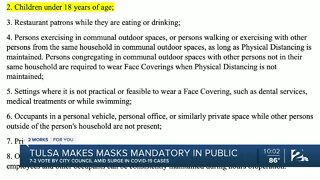 Tulsa makes masks mandatory in public